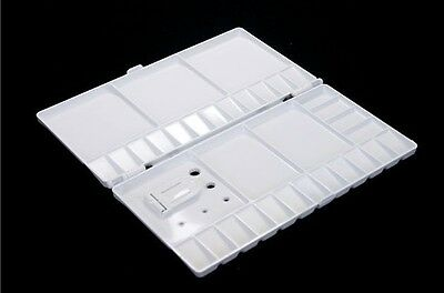 Artist Plastic Folding Color Palette Box Paint Tray Mixing Tray Thumb Hole Large