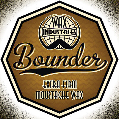 Bounder extra-firm moustache / mustache wax 10g tin