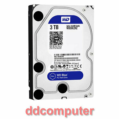 "WD 3TB SATA3 6GB/s IntelliPower 64Mb Cache HDD 3.5"" Hard Drive WD30EZRZ"
