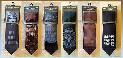 NWT DUCK DYNASTY Tie 6 Styles A&E Happy Family Redneck Commander Hey Jack Ties