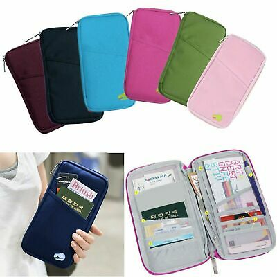 TRAVEL WALLET Passport Holder Credit Card Organizer Bag iPhone Samsung Pouch