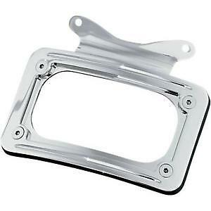 Harley FLHX Street Glide 2010-2013Curved License Plate Frame Chrome by Kuryakyn