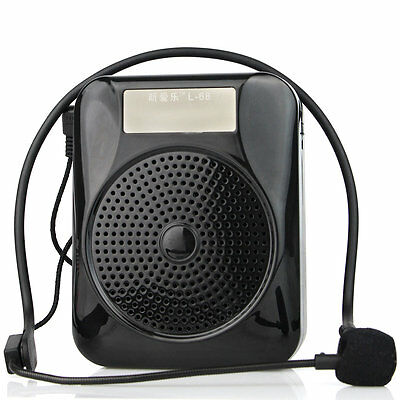 New Voice Amplifier Booster Loudspeaker+Microphone FM Radio for Teacher Guide 5W