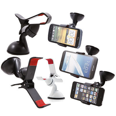 360°Rotating Car Windshield Mount Holder Stand For Cell Phone /GPS Universal JC