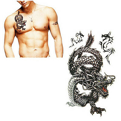Tattoo `Dragon` Drachen Temporary Einmal Flash Henna Armband Body tatsk