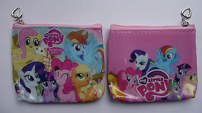 MY LITTLE PONY Zip Coin Purse childrens 2 designs party bags NEW Rainbow Dash