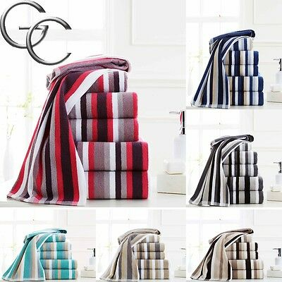 100% Hydro-Cotton Multi Striped Hand Towels, Bath Towels & Bath Sheets 600 GSM