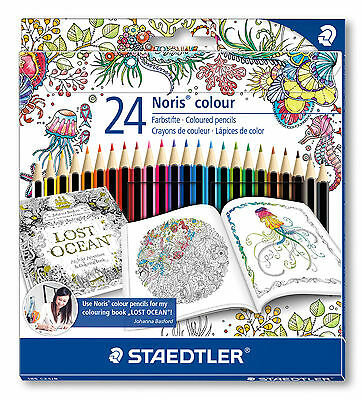 STAEDTLER Farbstifte Noris colour 24er-Box Johanna Basford Design 185 C24JB