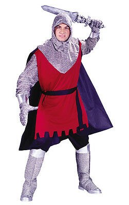 New Medieval Knight Adult Mens Halloween Fancy Dress Costume - One Size