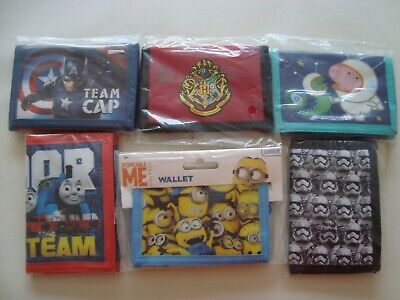 Children's Wallets,Harry Potter,Thomas, Minnion,Star Wars,Captain America,George