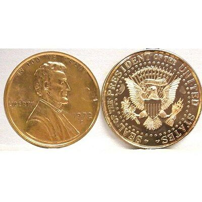 Abe Lincoln With Presidential Seal Jumbo Coin Paperweight New