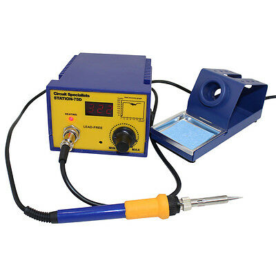 CSI Station75D Digital Temperature Control Soldering Station Powerful 75W Iron