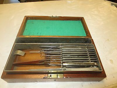 Vintage 21 Piece Surgical Tool Set Old Drs Doctors Surgical Tools Old Antique Nr