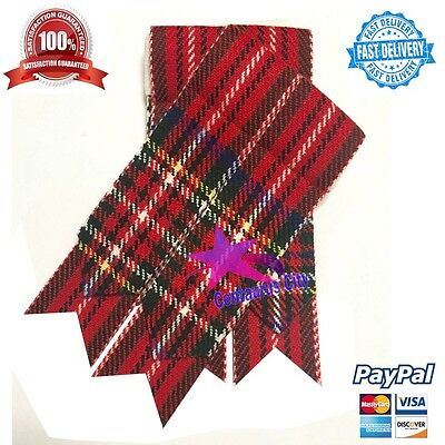 Mens Kilt Flashes Royal Stewart Tartan/Scottish Kilt Hose Sock Flashes Tartan