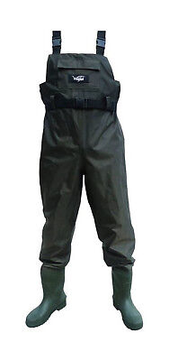 Size 7 Wildfish Chest Wader-Tough Nylon/PVC Fishing Wader with Integrated Boot