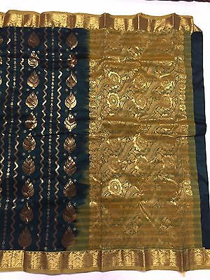 weaved Dharmavaram silk saree,woven contrasting pallus golden zari brocade