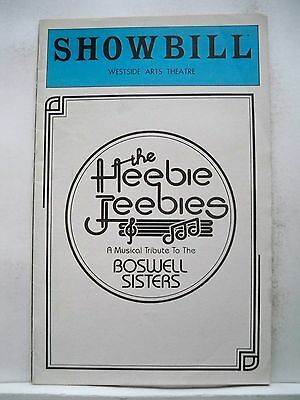 THE HEEBIE JEEBIES Playbill THE BOSWELL SISTERS Musical Tribute  NYC Flop 1981