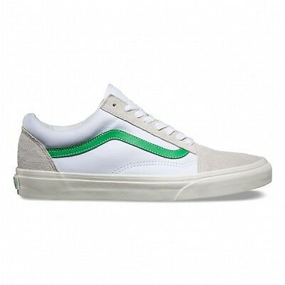 Vans - Old Skool Mens Shoes White/Green
