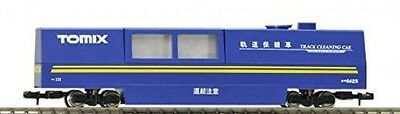 Tomix N Scale 6425 Track Cleaning Car Blue Color Yellow Line New From Japan