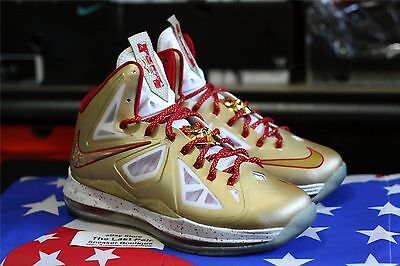 a9dddace0b0 Ds Nike Lebron X Ring Ceremony Promo Sample 7.5 Gold Red Pe Mvp  Championship 10