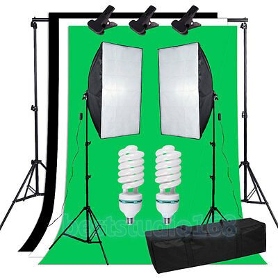 Photography Photo Studio Backdrop Softbox Support Continuous Lighting Stand Kit