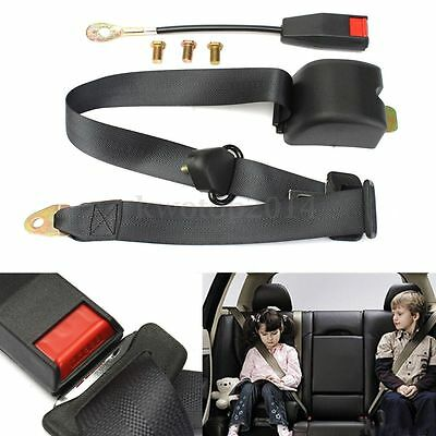 1 Set of Polyester material Universal 3 Point Retractable Car Seat Lap Belt 2.6m