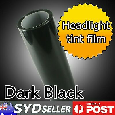 Dark Black Headlight Tail Light Car Tint Film Overlay Sticker Cover 30cm x 100cm