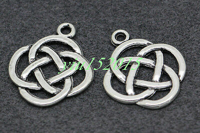 Free shipping Tibetan silver charm pendant Beautiful Celtic knot 15/50/300pcs