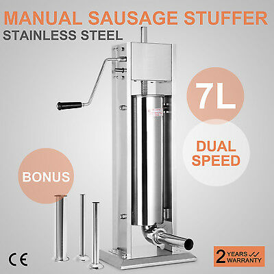 7L Sausage Filler 304 Stainless Steel Meat Mince Manual Professional Fantastic