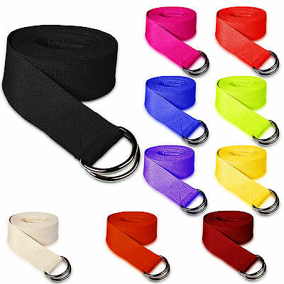 Stretching Yoga Strap  D-Ring Belt 180 cm Waist Leg Fitness Exercise 100% Cotton