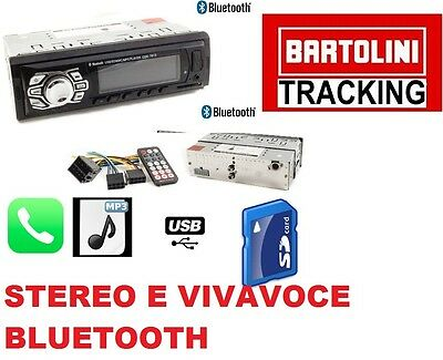 Stereo Auto Bluetooth Autoradio Vivavoce Radio Fm Mp3 Usb Aux Sd Card 60W