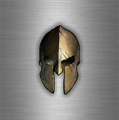 Sticker Autocollant car moto biker warrior airsoft molon labe spartan helmet r9