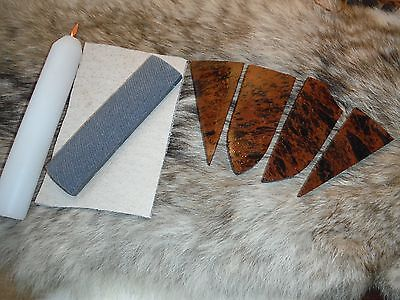 BEGINNERS KIT FLINT KNAPPING Obsidian Primitive Skinning Knife Preform Tools