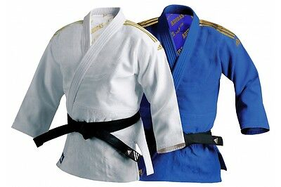 Adidas Champion Millenium Judo Uniform White Blue 990g Judo Heavyweight GI