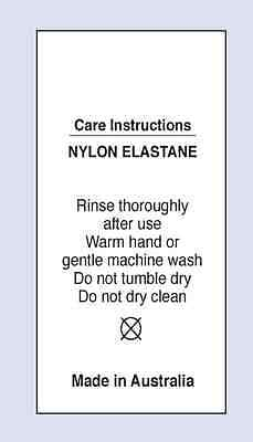 Nylon /Elastane Sewing Washing Care Label on Soft Satin 4 pack Sizes SMIA-1006