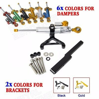Adjustable Steering Damper & Mounting Kit Fits For Honda CB1000R 08-15