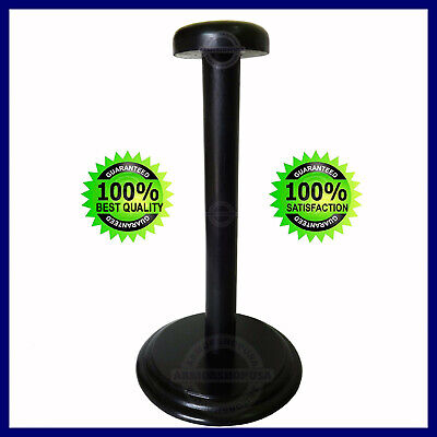 Foldable Wooden Helmet Stand Display Post for Medieval Helm or Prussian Helmets