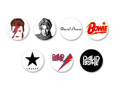 Lot Pack Badge Button Ø25mm David Bowie Ziggy Stardust Singer Music UK