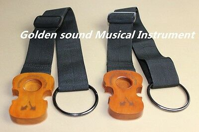 2pcs brand new Lei Muk Cello Rock Stop End Pin Stand Holder with straps