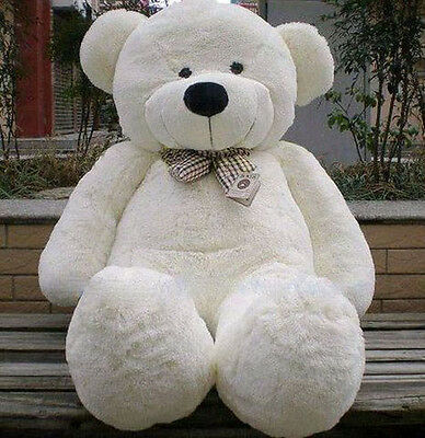1.2m Tall Giant Huge Lovely Teddy Bear Stuffed Plush Doll Xmas Great Gift White