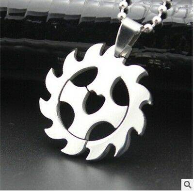 HOT wheel Womens Men's Silver 316L Stainless Steel Titanium Pendant Necklace NEW