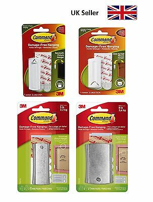 3M Command Picture, Frame & Canvas Hanger Hook Kits with Strips Hanging