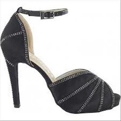 SCARPE DA BALLO IN RASO E STRASS T10.5 COD.DS01.105.510-35-NERO dancin