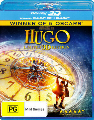 Hugo (Asa Butterfield) 3D Blu-ray Region B Brand New!
