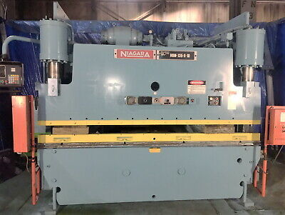 135 Ton x 10' Niagara CNC Hydraulic Press Brake Metal Bender
