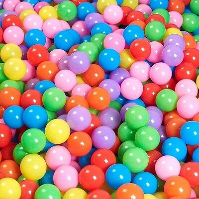 100pcs Secure Soft Baby Kid Pit Toy Swim Fun Colorful Soft Plastic Ocean Ball