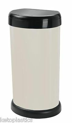 Cream Touch Top Kitchen Bin - 42L - Moda Bin With Lift Up Lid