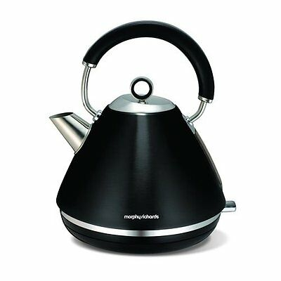 Morphy Richards 102002 Accents 1.5L - 3Kw  Pyramid Kettle in Black Brand New