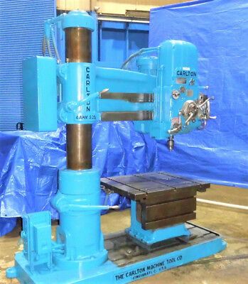 "4' Arm x 9"" Column Carlton Radial Arm Drill Traveling Head Drill Hole Milling"