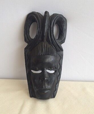 "Small Vintage African Tribal Mask Carving- 8"" Purchased in Kenya in 1970"